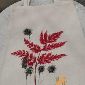 Túi vải bố vẽ tay mẫu lá