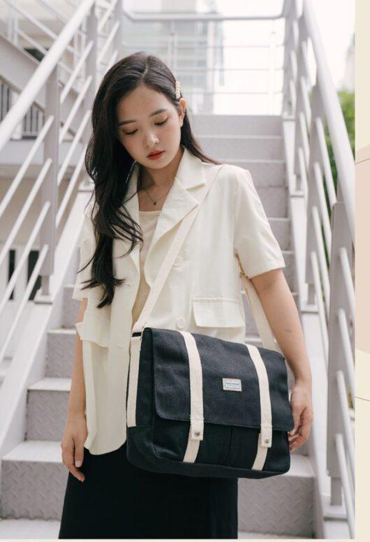 Đặc điểm của túi vải bố may dạng cặp táp