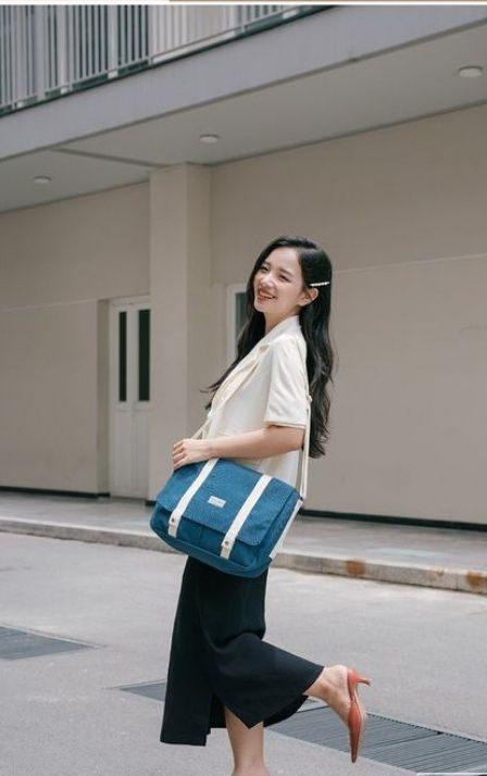 Túi vải bố may dạng cặp táp giúp nâng tầm phong cách