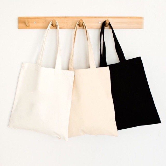 Túi vải bố trơn tặng cho thanh niên, học sinh