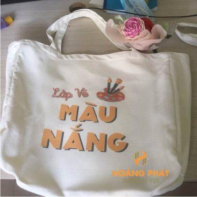 Túi vải bố lớp vẽ màu nắng